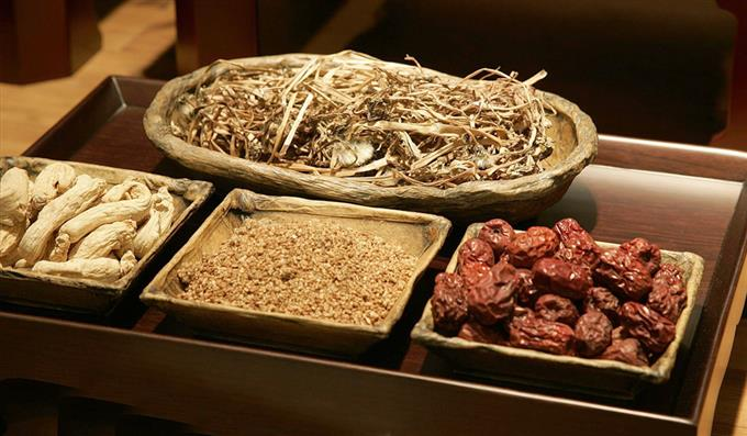 traditional chinese medicine herb tray